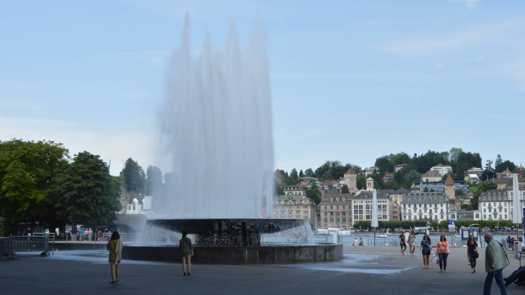 Wagenbachbrunnen beim KKL wird saniert