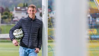 Gabriel Herzog, Torhüter beim FC Frick, glaubt an die erste Finalqualifikation in der Vereinsgeschichte. Fabio Baranzini
