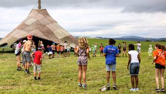 Spass und Spiel im Lager, da ist Distanz nicht immer gegeben: Hier auf dem Lagerplatz der Jubla Hohenrain-Kleinwangen. (Archivbild)