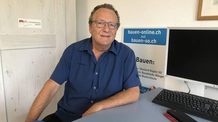 Jürg Krämer in seinem Büro in Biberist: «Es gibt andere, die mit mir zusammenarbeiten wollen.»