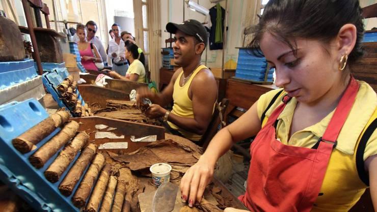 Der Oettinger-Davidoff-Konzern konnte den Absatz von Zigarren 2014 markant steigern. (Symbolbild)