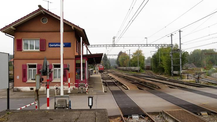 Der Bahnhof Gerlafingen vor dem Umbau.