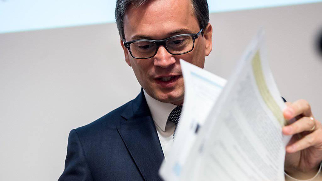 Stellt sich als Bundesratskandidat zur Verfügung: Der Tessiner Regierungsrat Christian Vitta (FDP). (Archivbild)