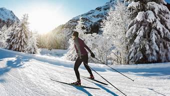 Einsam dahingleiten wie hier auf Alp Garfiun bei Klosters. Langlaufen erlebt gerade ein Revival.