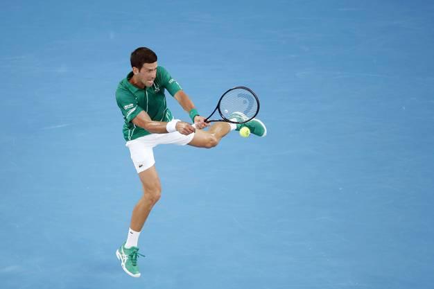 Steigert sich erheblich während des Satzes: Novak Djokovic