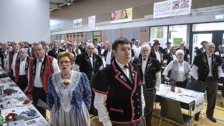Über 450 Delegierte und Gäste wohnten der 84. Delegiertenversammlung des nordwestschweizerischen Jodlerverbandes in Hägendorf bei.