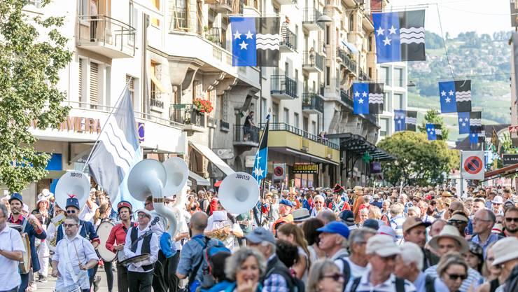 Im Zeichen des Aargaus: Rund 1500 Aargauerinnen und Aargauer sind am Dienstag an die Fête des Vignerons gereist.