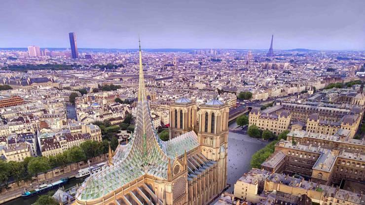 Entwurf von Vincent Callebaut Architectures für den Wiederaufbau von Notre Dame