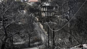 Die Zahl der Todesopfer der Brände in Griechenland steigt: Mindestens 88 Menschen sind bei den Feuern ums Leben gekommen.