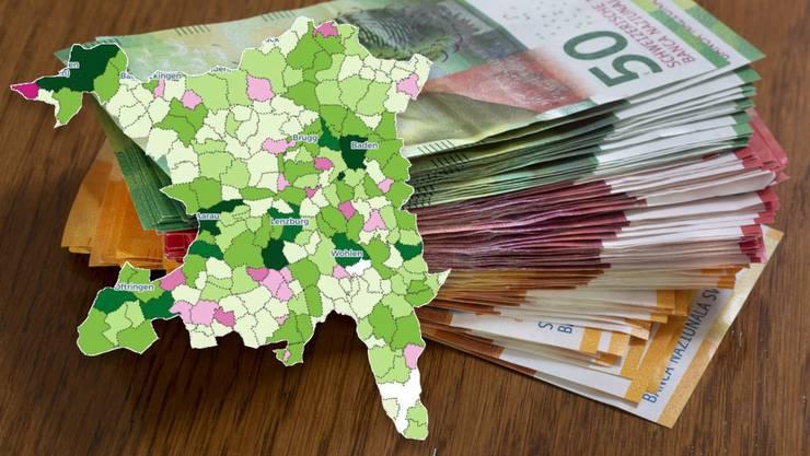 Rechnungsabschlüsse 2018 im Aargau: Neun von zehn Gemeinden schreiben schwarze Zahlen