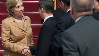 Wurde in China offiziell empfangen: US-Aussenministerin Hillary Clinton