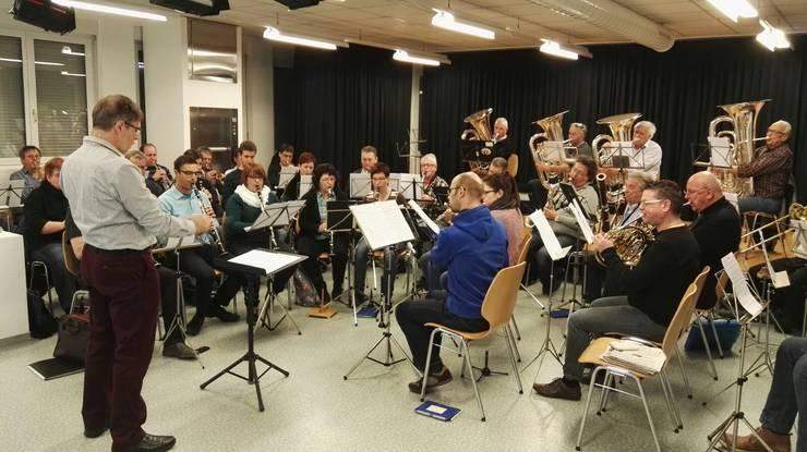 Die Stadtmusik Solothurn stellte sich als Demonstrations-Orchester zur Verfügung.