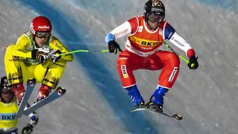 Jonas Lenherr (rechts) feierte am Montag in Arosa seinen dritten Weltcup-Sieg