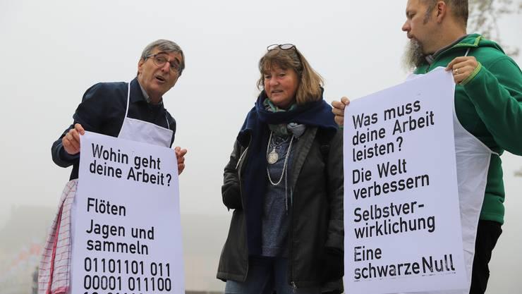 Druckaktion des Solothurner Kulturprojekts «Verschiebungen 18/18» zum Thema «Arbeit»