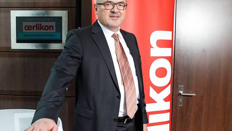 Roland Fischer, Konzernchef beim Industriekonzern Oerlikon,  blickt auf einen erfolgreichen Start ins neue Geschäftsjahr zurück. Das allgemein gute wirtschaftliche Klima soll auch im Gesamtjahr für höhere Umsätze und bessere Profitabilität sorgen. (Archiv)