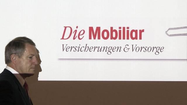 Urs Berger, CEO der Mobiliar, an der Pressekonferenz