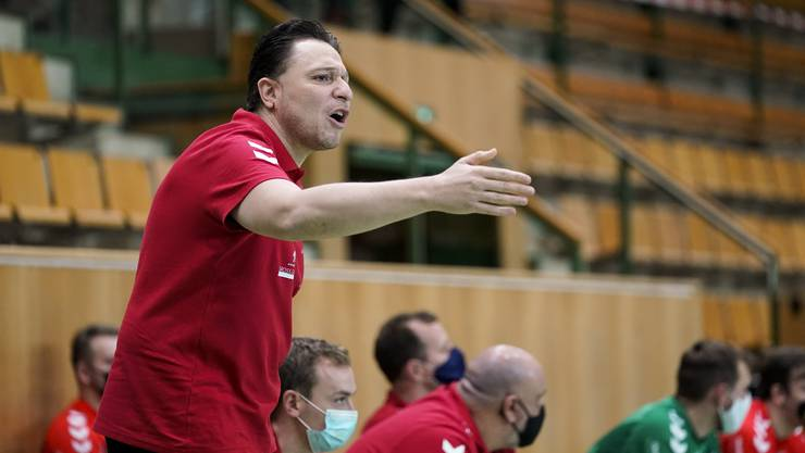 TVE-Trainer Zoltan Majeri erwartete von seiner Mannschaft den Sieg gegen Pfadi Winterthur.