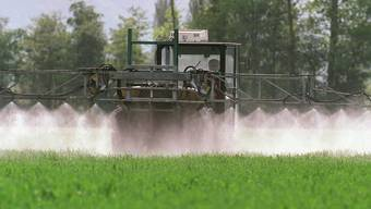 Ein Landwirt versprüht ein Pflanzenschutzmittel. (Symbolbild)