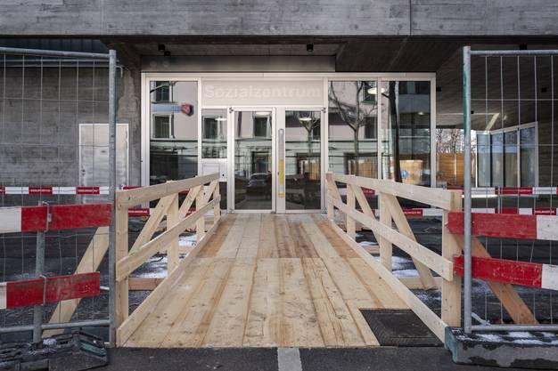 Blick auf die aktuelle Instandsetzung des Amtshauses Helvetiaplatz anlaesslich einer Medienfuehrung. Im Februar 2019 wird das Sozialzentrum Helvetiaplatz einziehen.