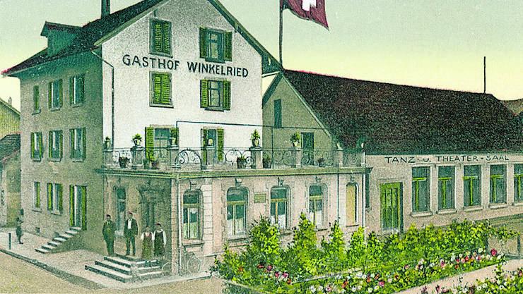 Der Gasthof Winkelried als Postkartensujet um 1900.