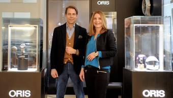 Die beiden Oris-Chefs («Joint Executive Officer») Rolf Studer und Claudine Gertiser-Herzog.