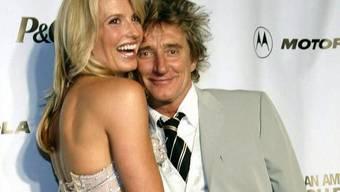 Rod Stewart mit Ehefrau Penny Lancaster (Archiv)