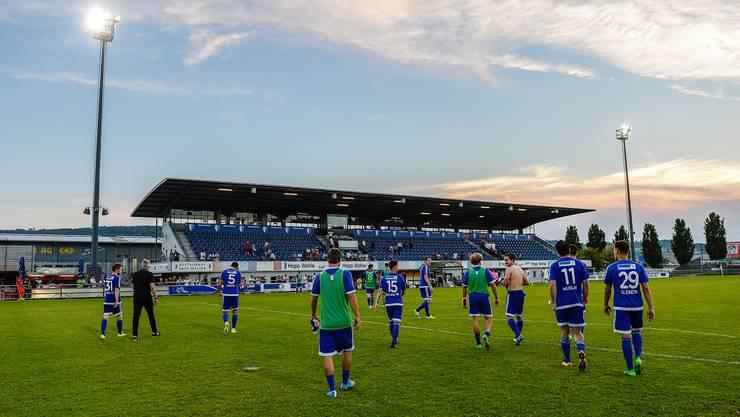 Im Wohler Stadion Niedermatten heisst es Lichterlöschen für den Profifussball.