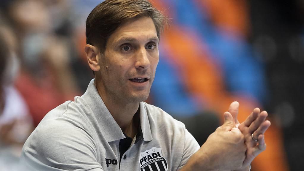 Als Trainer gewann Adrian Brüngger mit Pfadi Winterthur dreimal den Cup, aber noch nie den Meistertitel