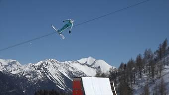 Go-Pro-Video: Mit dem Aargauer Weltklasse-Ski-Akrobaten Dimitri Isler über die Schanze.