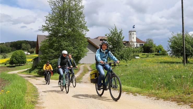 Auch beim Veloausflug der regionalen Projektschau Limmattal von Wettingen nach Schlieren diesen Monat waren viele Fahrer mit Motorunterstützung unterwegs.