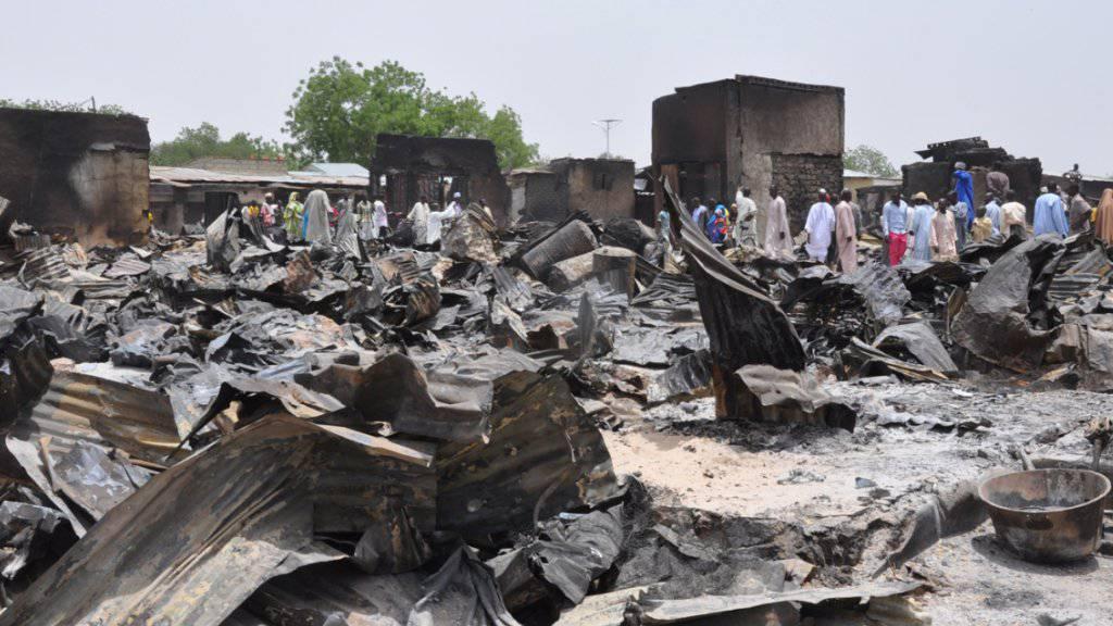 Zu 90 Prozent zerstört: Die Sadt Gamboru in Nigeria. Nach der Vertreibung von Boko Haram aus der Ortschaft kehren die Einwohner wieder zurück. (Archivbild)