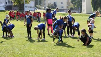 Auf dem Embri-Areal in Urdorf nahmen am traditionellen Jugendwettkampf rund 220 Kinder und Jugendliche teil.