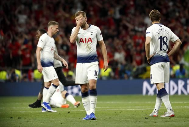 Traurige Gesichter bei Tottenham.