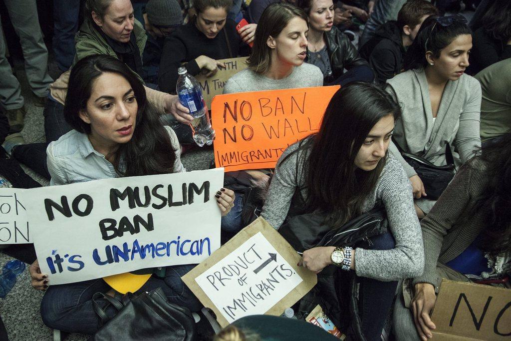 Proteste gegen Einreiseverbot (© Keystone)