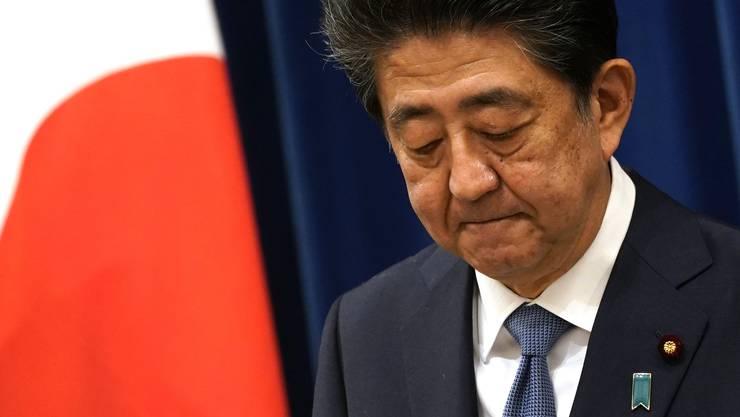 Shinzo Abe leidet an einer Darm-Erkrankung.