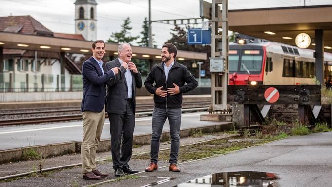 Wermuth und Burkart feiern Zwischenerfolg bei Bahnanschluss Mittelland