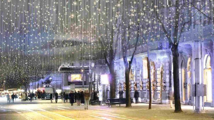 Zürich Weihnachtsbeleuchtung.Wir Dachten An Den Beatles Song Zürich Limmattal Limmattaler