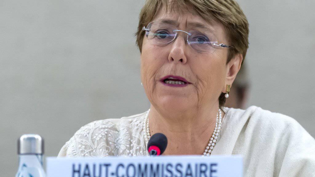 Uno-Menschenrechtskommissarin Michelle Bachelet spricht am Freitag vor dem Menschenrechtsrat in Genf zur Lage in Venezuela.