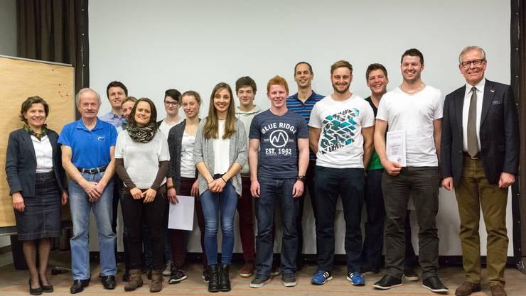 Der Vorstand des Kantonalen Leichtathletikverbandes Solothurn ehrte an der GV seine im Jahr 2014 erfolgreichen Sportlerinnen und Sportler