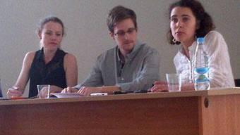Snowdens erster Auftritt seit seiner Flucht