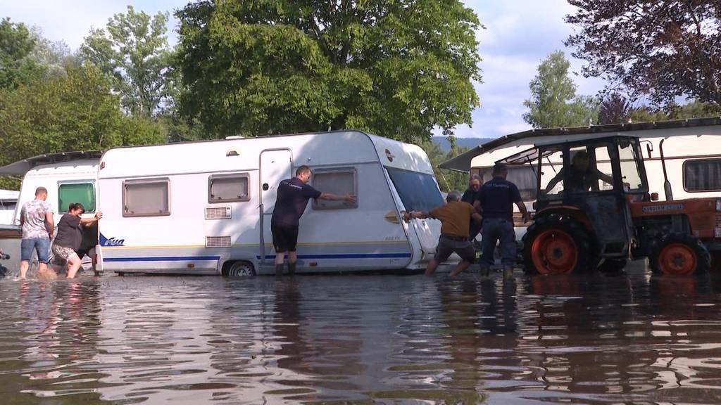 Unwetter Überblick: Die aktuelle Hochwasser Situation in der Schweiz