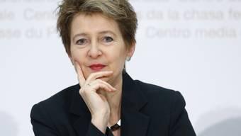 Bundesrätin Simonetta Sommaruga wird voraussichtlich für die Schweiz am G-20-Gipfel in Riad im November nächsten Jahres teilnehmen. (Archivbild)