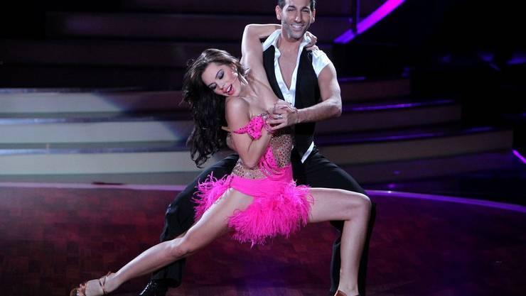 Liliana Matthäus (21) mit Tanzpartner Massimo Sinato (30) in Action.