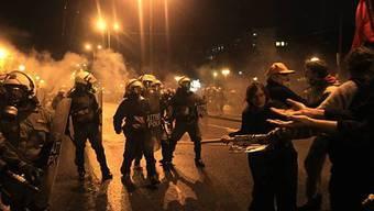 Zusammenstösse mit der Polizei am Rande der Demonstration