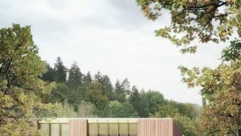 Bis die Schulhauserweiterung (links) fertig ist, wird der Kindergarten auch als Schulhaus dienen. ZVG