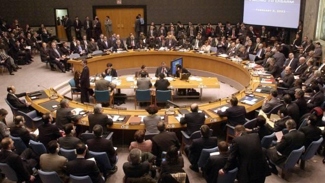 Der UNO-Sicherheitsrat vor einer Irak-Diskussion (Archiv)