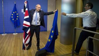 Zwischen 45 und 55 Milliarden Euro könnte das Vereinigte Königreich  bei seinem Austritt aus der Europäischen Union nach Brüssel überweisen.