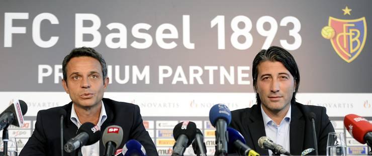 Gestern Morgen hatte FCB-Präsident Bernhard Heusler Yakin als Nachfolger von Heiko Vogel vorgestellt