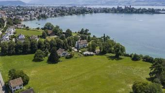 Blick auf das Baugrundstück von Tennisspieler Roger Federer am Zürichsee in Rapperswil-Jona, aufgenommen am 19. Juli 2019 (Archivbild).