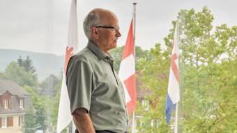 Hier in seinem Büro im Gemeindehaus in Reinach wird Urs Hintermann ab sofort nicht mehr wirken.